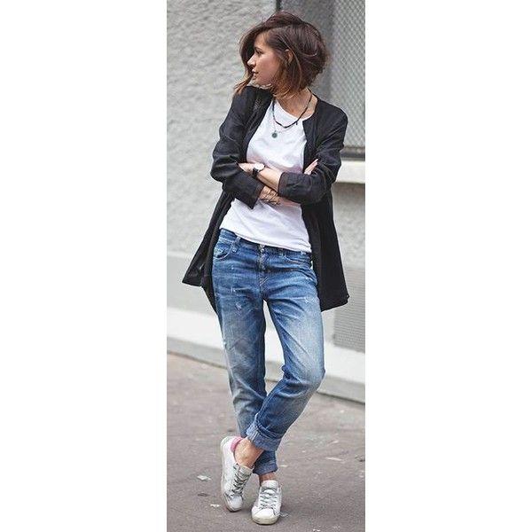 fishnet trend ripped jeans via Polyvore featuring jeans, ripped jeans, destroyed jeans, torn jeans, destruction jeans e distressed jeans