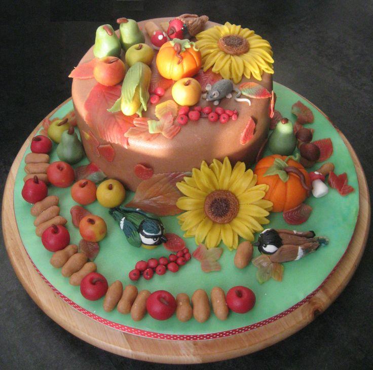 Herfst/oogstfeest taart  Te bestellen via www.taartopmaatvathorst.marktplaza.nl