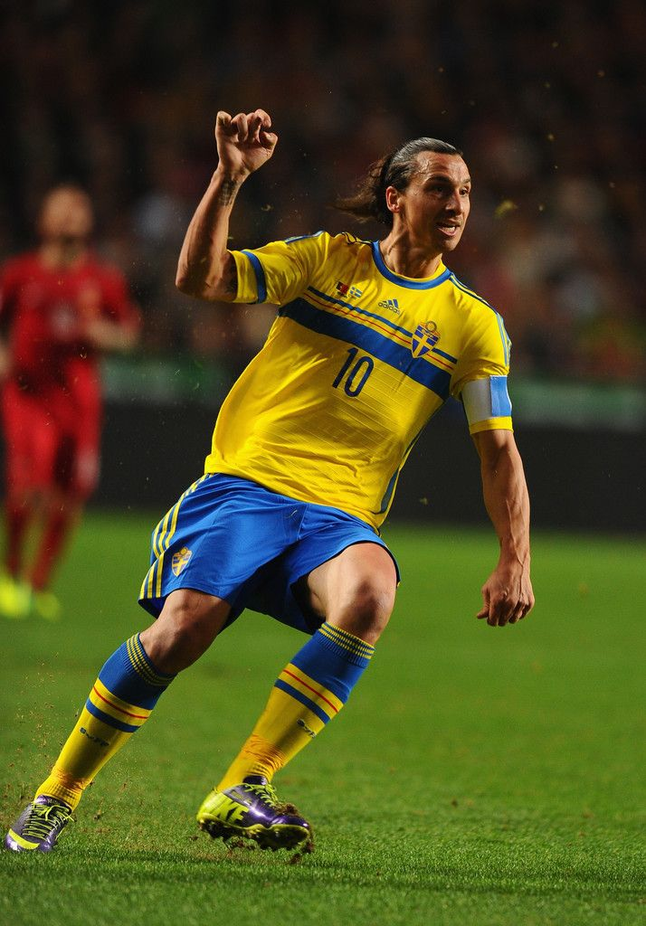 Zlatan Ibrahimovich in action during the FIFA 2014 World Cup Qualifier play-off first leg between Portugal and Sweden at Estadio da Luz on November 15, 2013 in Lisbon, Portugal.