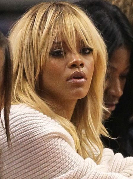 Check Out Rihanna's New Blonde Hairstyle! (Will You Miss Her Auburn Curls?): Girls in the Beauty Department