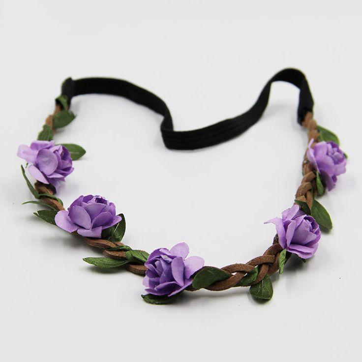 7 STKS Verschillende Kleuren Haaraccessoires Meisjes Hoofdbanden Rose Bloemen Kroon Bruiloft Haar Accessoire Flores Hoofdband voor Vrouwen