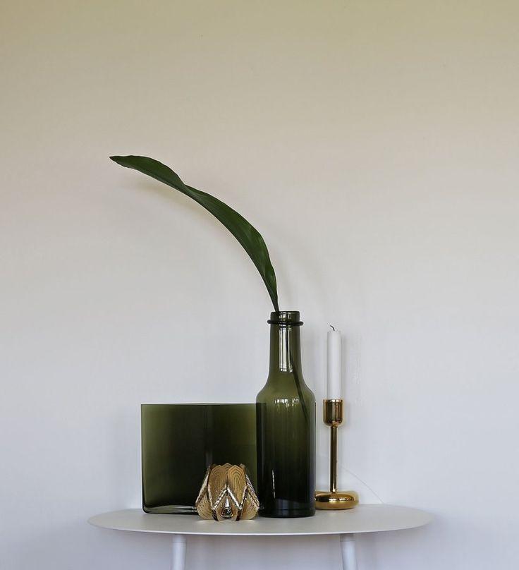 Feng shui, interior, green glass, brass - beautiful home decor