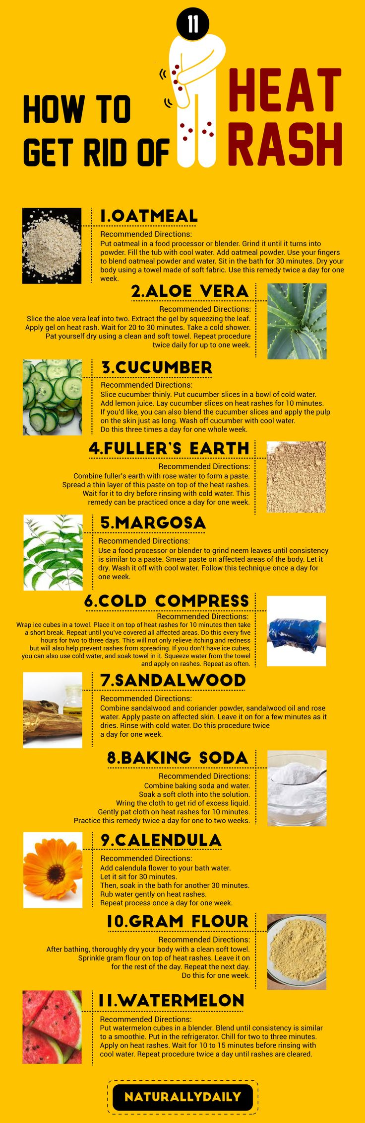 how to get rid of heat rash fast