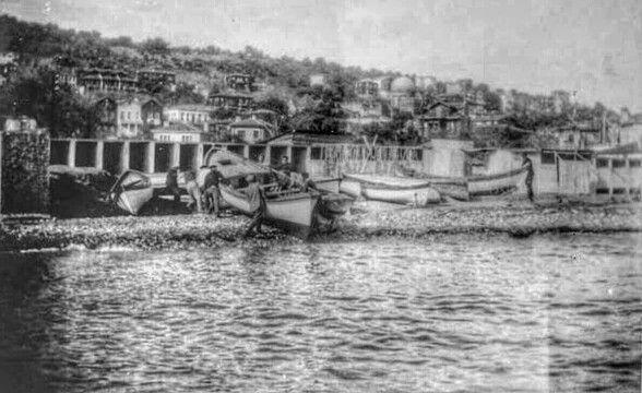 MUHTEŞEM YILLAR ... Antigoni / Burgazada eski Moloz Plajı'nda tekne kışlama hazırlıkları ...
