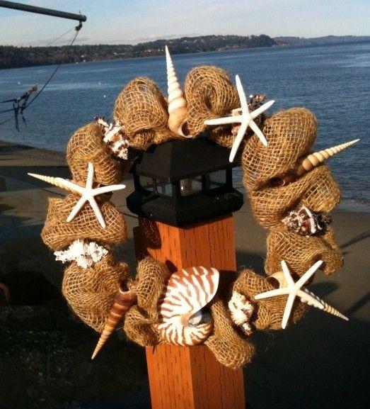 Www Fotoventasdigital Com Diy Burlap Wreath That Folding: 129 Best Images About Shell Wreaths On Pinterest