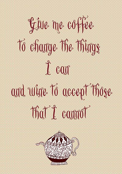 Inspirational Coffee Digital Art Print by LavandulaVeraStudio, $5.00