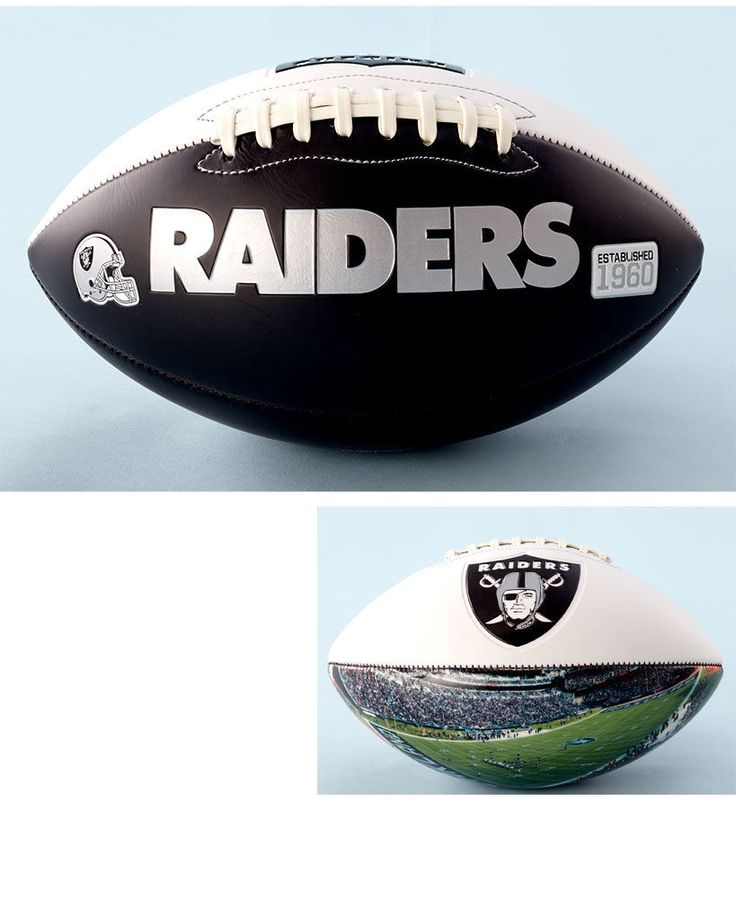 Official NFL Raiders Team Football With Panoramic Stadium View Gift Collectible #OfficialNFL #OaklandRaiders