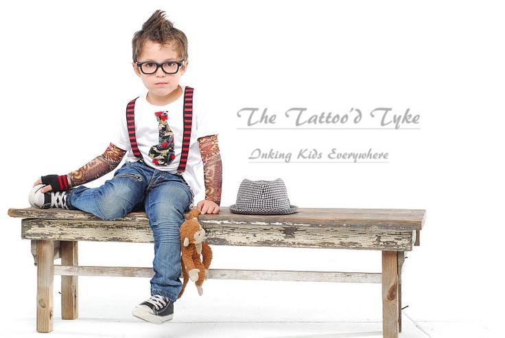 Heartbreaker Tattoo sleeve shirt with Michael Miller Tattoo print tie