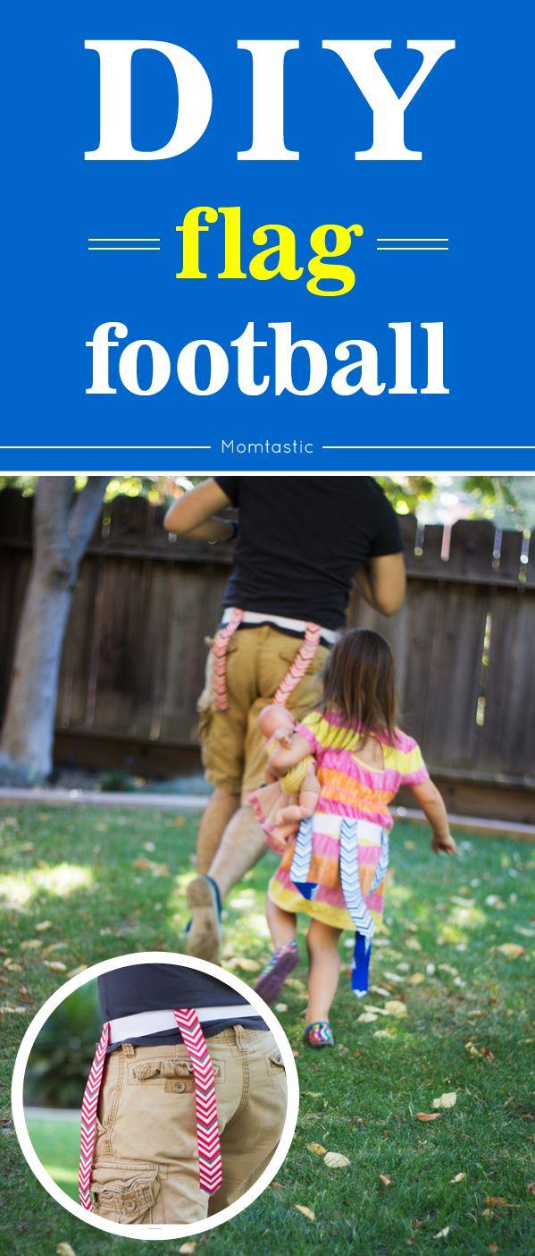 DIY flag football - outdoor fun for fall!