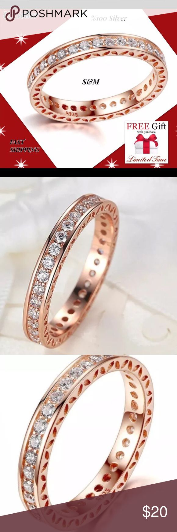 925 sterling silver live ring band size 8 Feature 100% Brand New Model Number:YLPA7215 Material: 925 Silver AAA Zircon Crystal  Wearing Occasion: Wedding/ Engagement/ Anniversary/ Propose/ Party/ Gift Gift for: Girl friend/ Wife/ Mother/ Friends/Sister  We are the new seller but best seller. Now we have a limited time big promotion.  You can use or give gift your mom, dad, friend, sister... When you buy this item Nano technolog Microfiber claening Cloth $19.99 value is free for you! Jewelry…