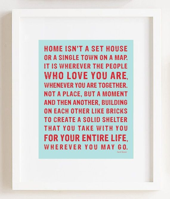 I like this quote. Maybe out of stick on letters on a canvas painted over as a going away gift. I saw that in another pin...