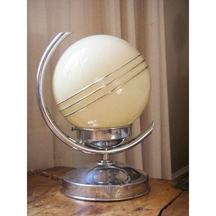 Art Deco Saturn Lamp