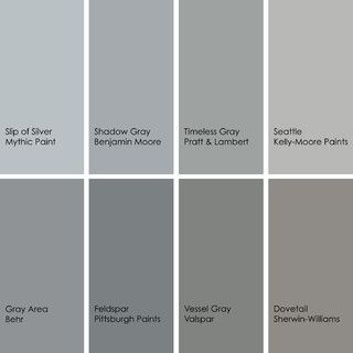 Cant wait to redo my lighthouse bathroom in similr gray. Bathed in Color: When to Use Gray in the Bath Go for elegance and sophistication without going overboard on coolness, using these gray bathroom paint picks and inspirational photos