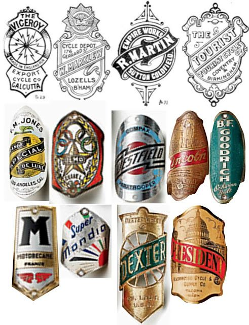 Vintage Bike Badges