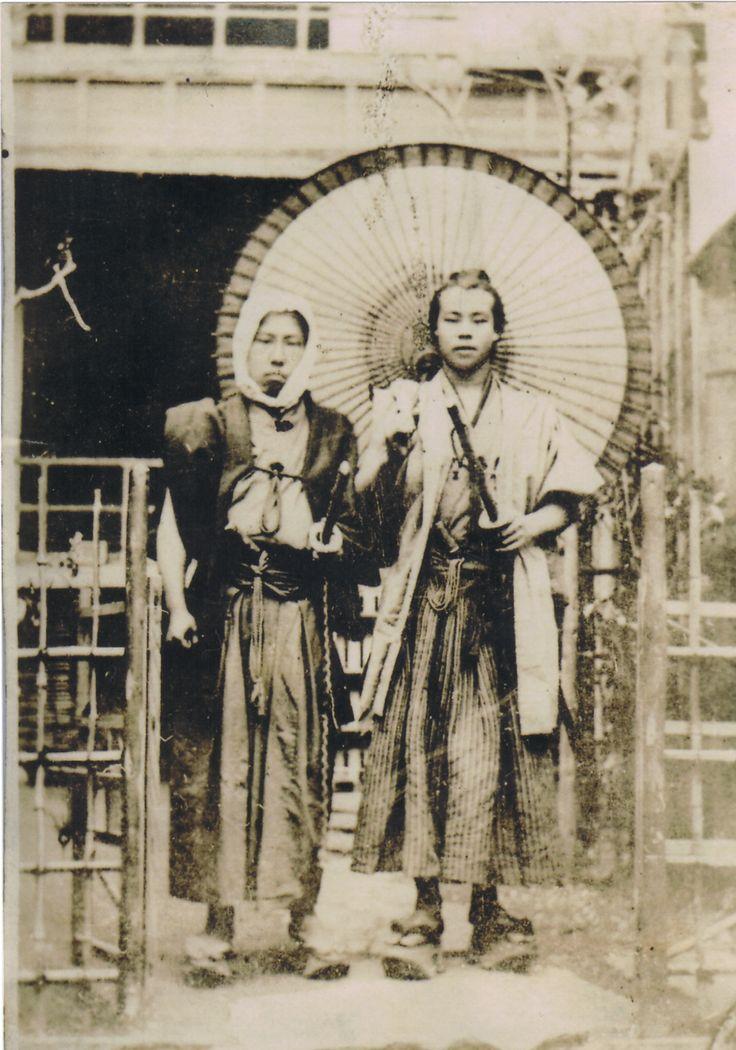 Umanosuke Kashio (R), kendo master from  the famous SHINSENGUMI police squad, ca. 1858-1868. Later, he became a revolutionist.