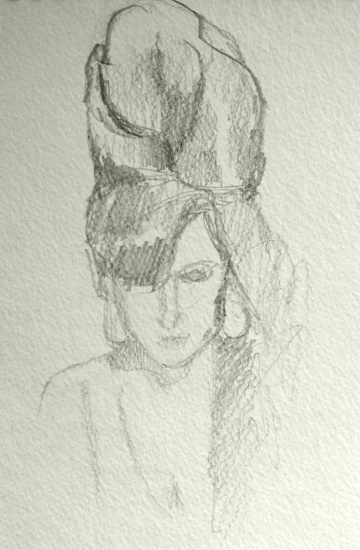 """Amy Winehouse, pencil on paper 6x9"""" #gift #art http://www.etsy.com/listing/98429952/sketch-of-amy-winehouse"""