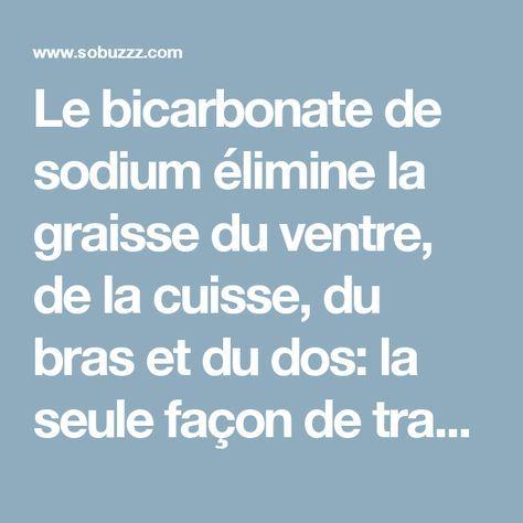 Le bicarbonate de sodium élimine la graisse du ventre, de la cuisse, du bras et du dos: la seule façon de travailler, c'est si vous le préparez comme ceci - sobuzz