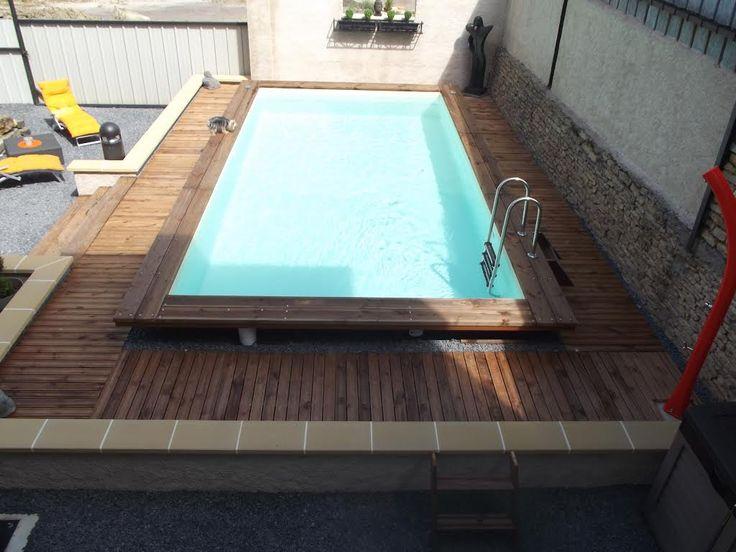 Les 25 meilleures id es de la cat gorie piscine hors sol for Piscine bois enterrable rectangulaire