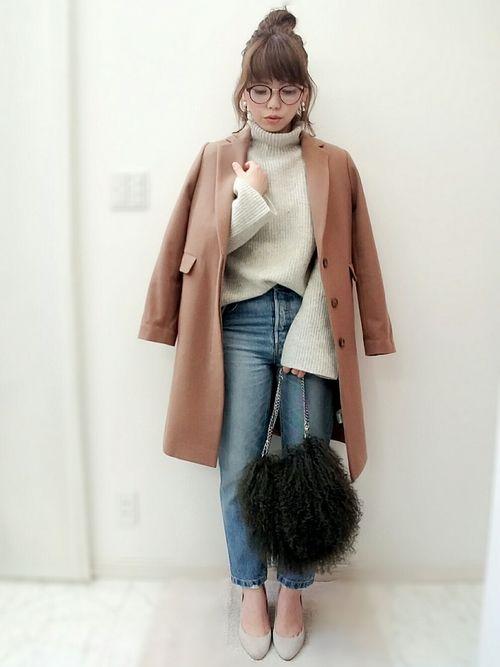 IENAのニット・セーター「シルクネップ タートルネックプルオーバー◆」を使ったmaamin♡のコーディネートです。WEARはモデル・俳優・ショップスタッフなどの着こなしをチェックできるファッションコーディネートサイトです。