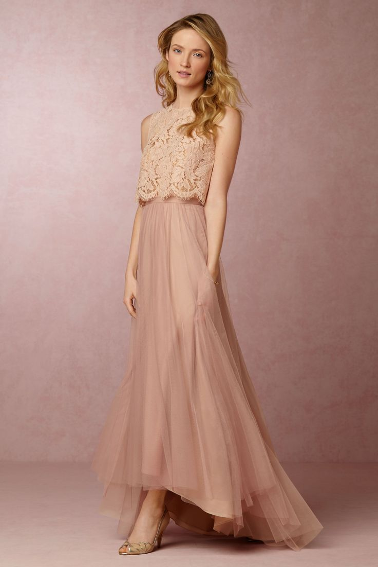 BHLDN Cleo Top & Petal Skirt in Bridesmaids Bridesmaid Dresses at BHLDN