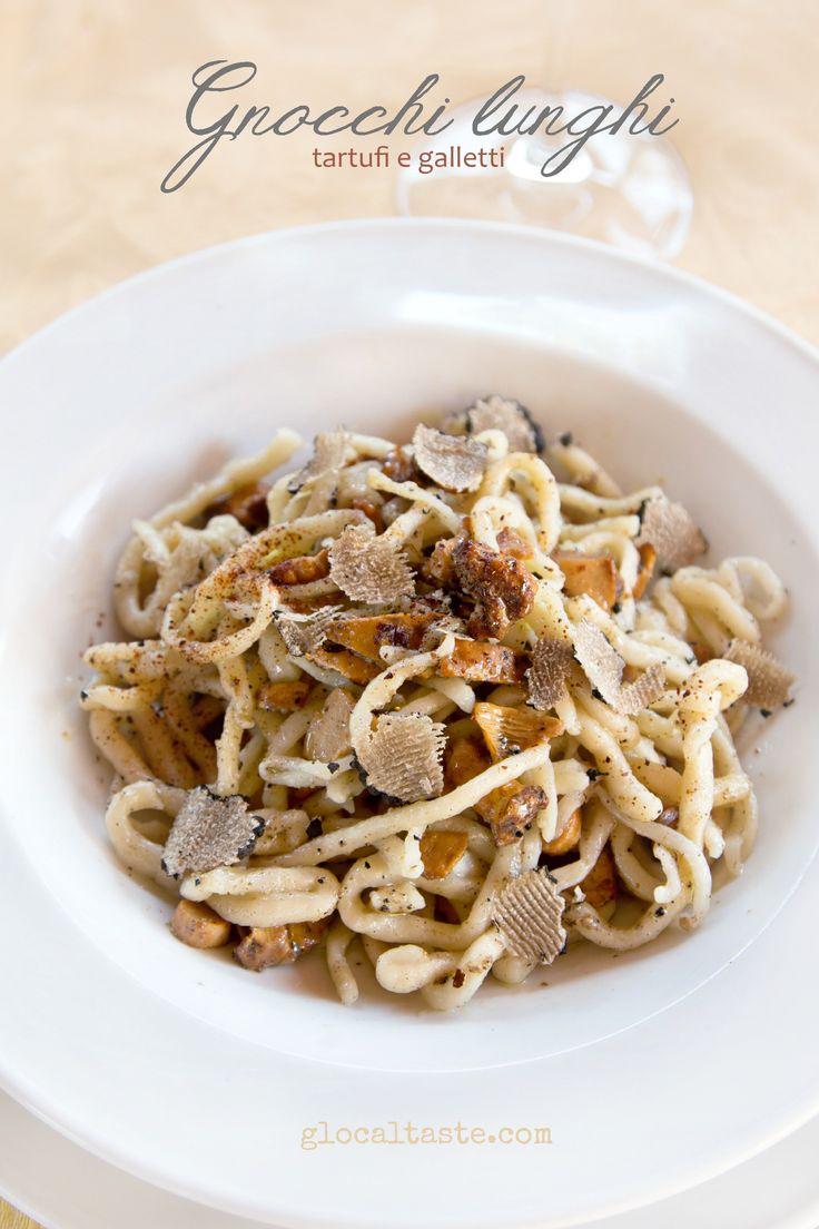 """Italian #traditional #recipe: #gnocchi """"acoda de soreca"""", truffle galletti mushrooms - Una ricetta tipica della provincia di Roma: gnocchi """"a coda de soreca"""" con tartufi e galletti appena raccolti!"""