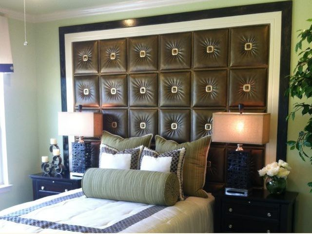 Bedroom   Faux Leather Wall Covering