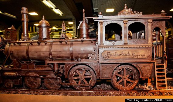 Chocolate Train Named World's Longest Chocolate Structure At 111.5 Feet