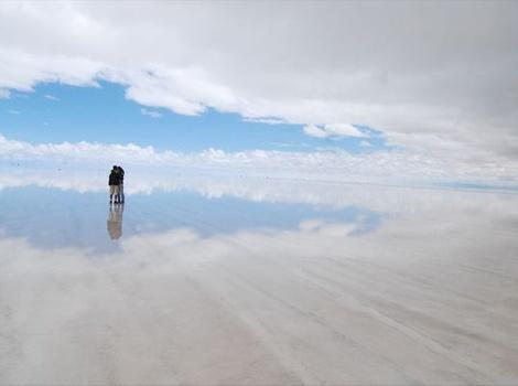 空と大地とー、何処までが何かわらず、自分さえ何処か見えなくなるぐらい圧倒されちゃうなー。いつかきっと見てみたい。