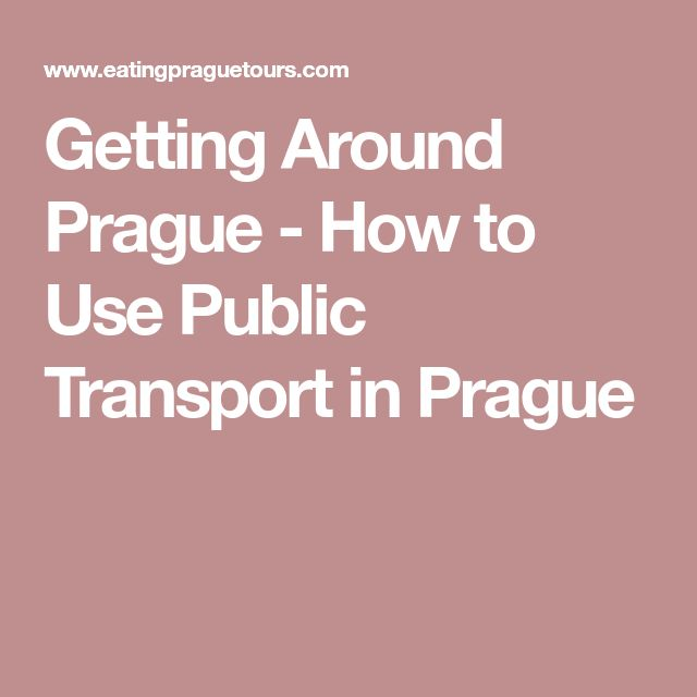 Getting Around Prague - How to Use Public Transport in Prague