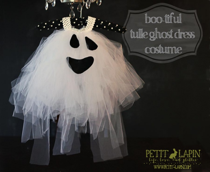 sweet little tulle ghost dress