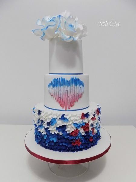 Wedding by MOLI Cakes - http://cakesdecor.com/cakes/262749-wedding