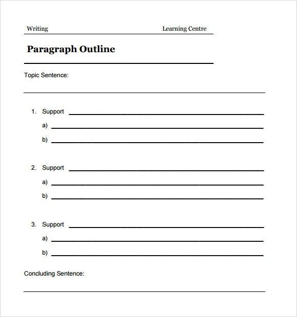 6 Sample Blank Outline Templates Sample Templates In Blank
