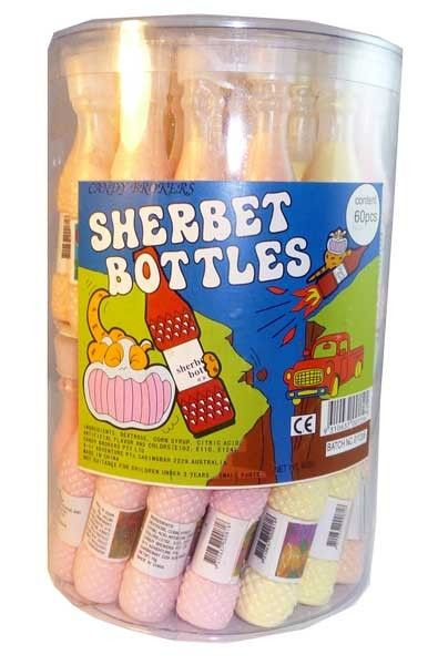 The Professors Tasty Technology - Candy Brokers - Sherbet Bottles (60 bottles in a Display Unit), $22.24 (http://www.theprofessors.com.au/products/candy-brokers-sherbet-bottles-60-bottles-in-a-display-unit.html)