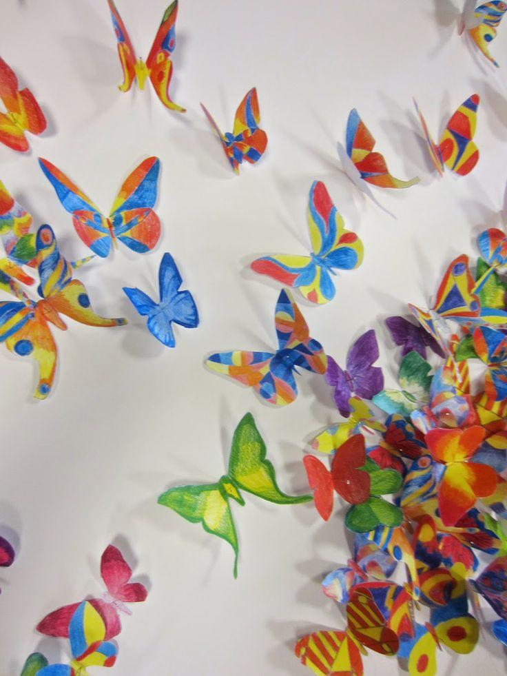 Groepswerk vlinders - kleurpotloden