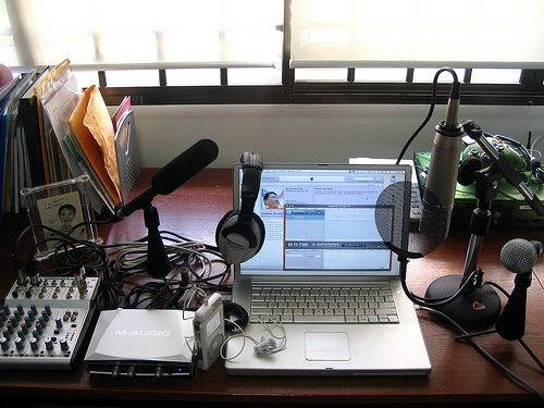 Podcast Studio: The Chris and Nallely Show!