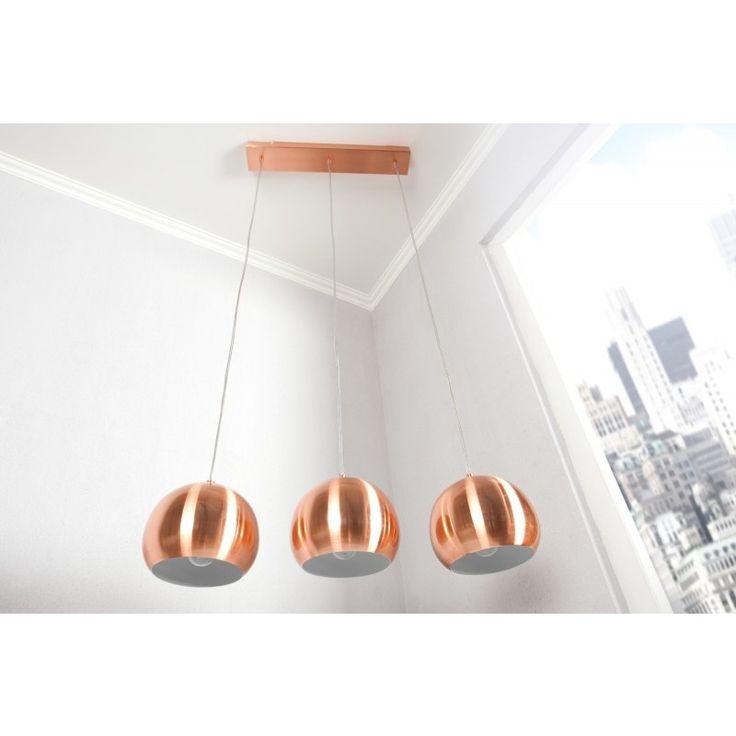 Moderne hanglamp koper 3 bollen - 22975