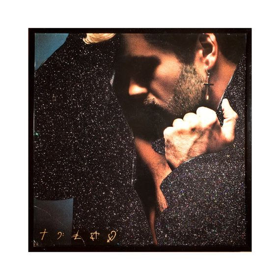 Glittered Vintage George Michael Faith Album Art @Vintage Vinyl @George Michael @Pride