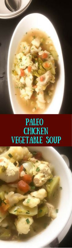 A surprise ingredient injects this delicious Paleo chicken vegetable soup with a rich depth of flavor that you just can't get enough of 'til it's all gone. Low carb, gluten free, and packed with yummy veggies, this recipe from A Sprinkling of Cayenne is a keeper that you'll want to enjoy again and again throughout the fall and winter seasons. | http://asprinklingofcayenne.com