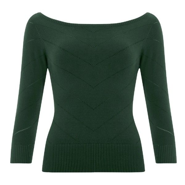 Bardot Boat Neck Jumper ($44) ❤ liked on Polyvore featuring tops, sweaters, boat neck jumper, bateau neck sweater, green sweater, bateau neck tops and jumpers sweaters