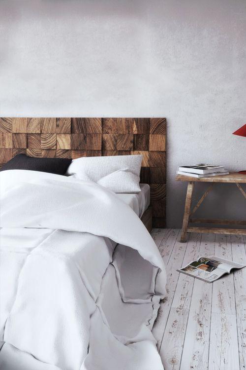 Drewniane wezgłowie do sypialni DIY