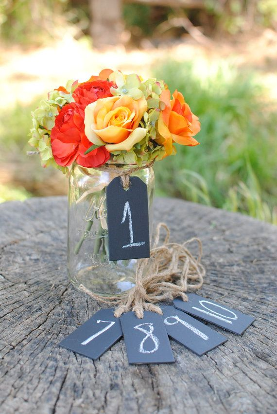 Wood Chalk Board Tags Set of 5 For Table by RiverRoadRustics, $10.00 @Emily Roper