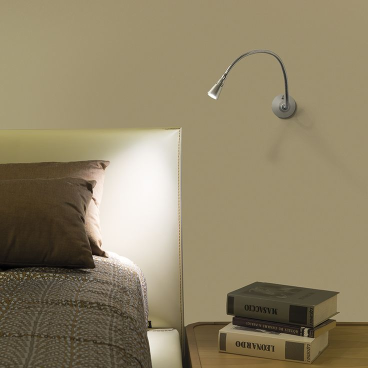 BUSSOLA - Adjustable wall spotlight, ideal for the accent lighting of pictures and as reading light. #LED #light_e_design #design #illumination #lamp #lightdesign #indoor #lighting #lamp #pendant #iluminacion #decor #home #decoracion #lampara
