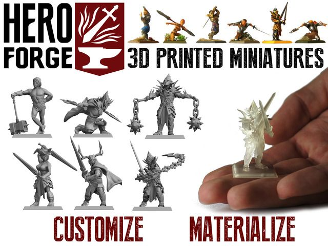 Hero Forge -- A service that lets you customize your own miniature and have it 3D printed for you