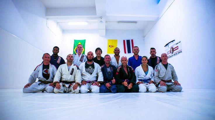 The Monday night #gi class #brazilian #jiujitsu @ the shinobi academy in lagos, portugal....we're above praia dona ana (for those who do not know)
