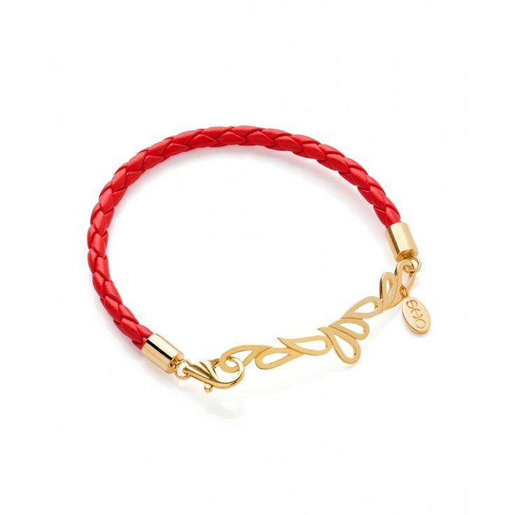 MARI FRIENDSHIP BRACELET - RED LEATHER/GOLD VERMEIL - SHO Regular Price: £78.00 Special Price: £54.00 #Easter #offer # jewellery #earrings #amethyst #Cambridge