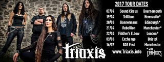 Becky Baldwin: Triaxis Spring 2017 tour dates UK   Triaxis Spring 2017 tour dates - including 4 shows with Dakesis! 07/04 - Sound Circus Bournemouth: Metaprism Triaxis Evyltyde & Endea at Sound Circus 19/04 - TRILLIANS NEWCASTLE (official page):Dakesis Triaxis Guilt City  Sin Theta in Newcastle 20/04 - Bannermans Bar Edinburgh: Triaxis Dakesis & Sanity Ward at Bannermans Edinburgh 21/04 - Rebellion Manchester: Triaxis at Rebellion Manchester [Vice Album Launch Party] 22/04 - Fiddler's Elbow…