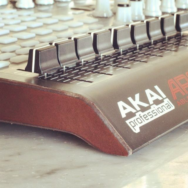 Just modified my Akai Apc40 for ableton with some leather sides. #ableton #apc40 #akai #custom #leather #oopsmark