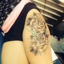 Image result for lily flower thigh tattoos
