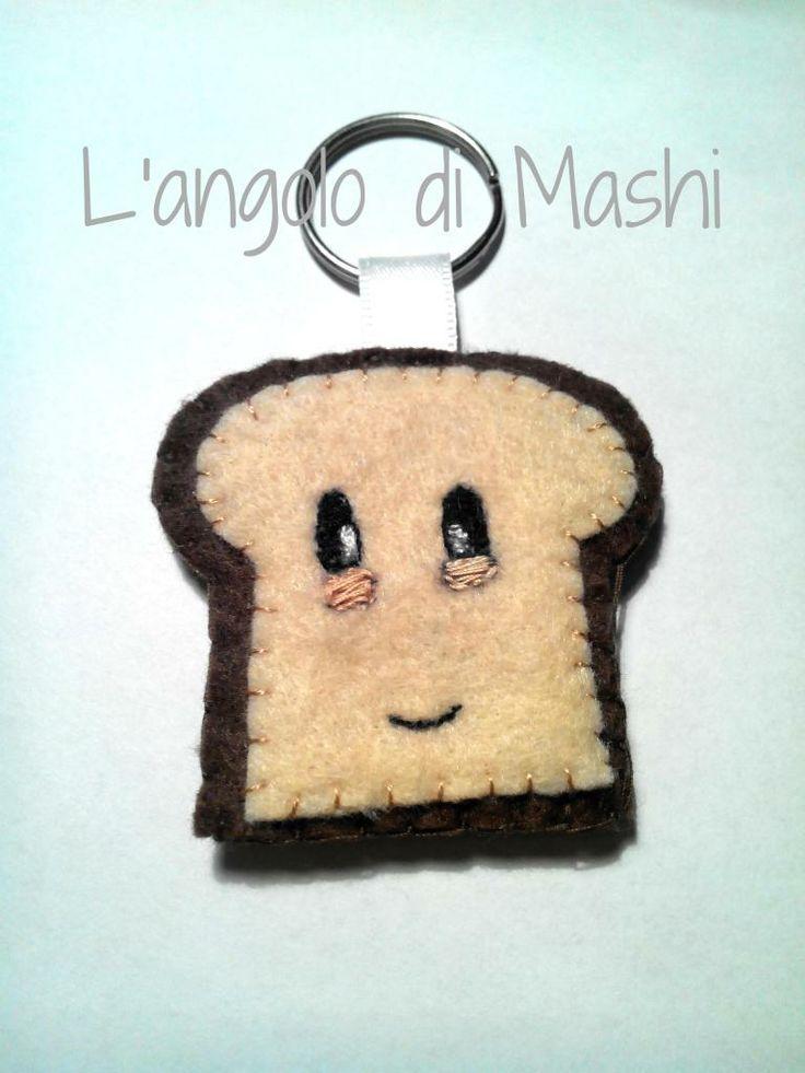Portachiavi toast in feltro