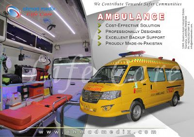 Installation of suction device, Plus oximeter, spine board, kit for resuscitation& advanced first aid makes an ambulance ready for  basic life support (BLS).  Other equipment may be added as per requirement.